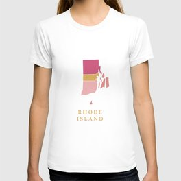 Rhode Island map T-shirt
