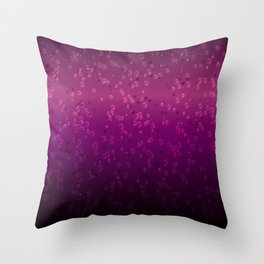 Purple bubbles Throw Pillow
