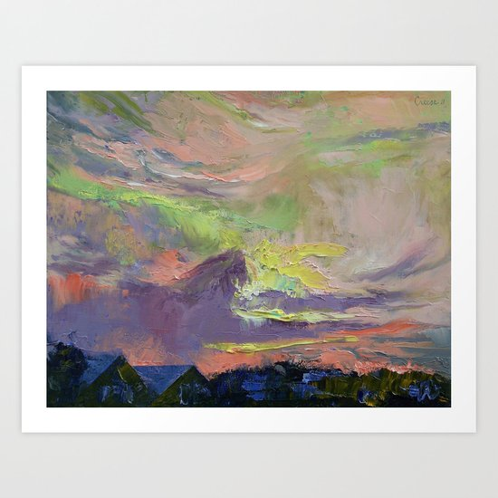 Summer Evening Art Print