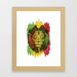 Rasta Jamaican Lion Gift for Rastafari & Reggae music fans graphic Framed Art Print