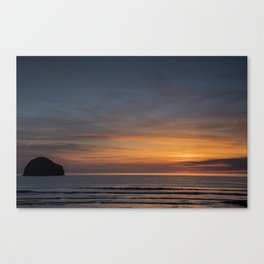 A Sunset in Cornwall Canvas Print