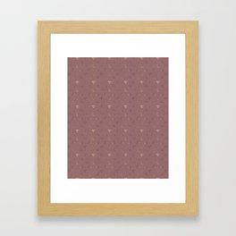 Gold Diamonds Pattern on Royal Purple Background Framed Art Print