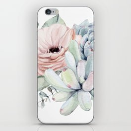 Pastel Succulents by Nature Magick iPhone Skin