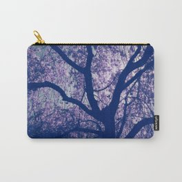 Cherry Blossom Blue Carry-All Pouch
