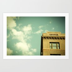 Green Skies Art Print