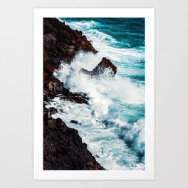 CONFRONTING THE STORM / Lanzarote, Spain Art Print