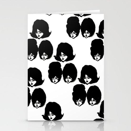 Bouffant Girls II Stationery Cards