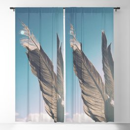 Brown Feathers Blackout Curtain