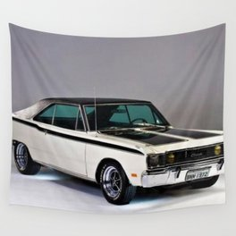 1971 Brazilian MOPAR Charger RT Rare Muscle Car Wall Tapestry