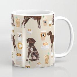 German Shorthair Pointer dog breed custom pet portrait coffee lover pet friendly gifts Coffee Mug