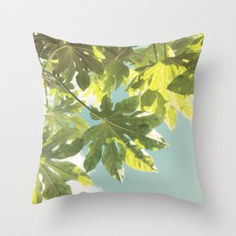 Fig Leaves Throw Pillow