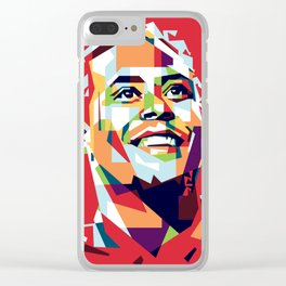 colorful illustration of Virgil Van Dijk Clear iPhone Case