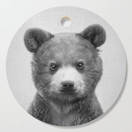 Baby Bear - Black & White Cutting Board