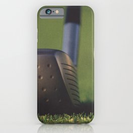 Golf Club and Ball on Tee iPhone Case
