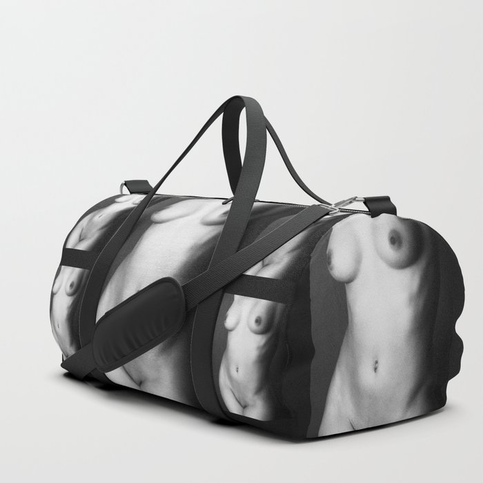 Black and white nude woman's body Duffle Bag