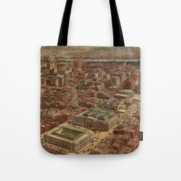 Vintage Penn Station and Surrounding NYC Map Tote Bag