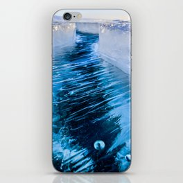 The crack of Baikal ice iPhone Skin