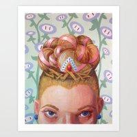 princess peach Art Prints featuring Princess Peach by Jodi Hoover Art