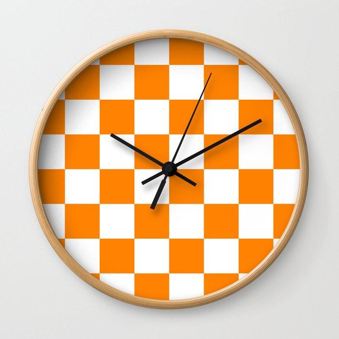 Orange and White Wall Clock