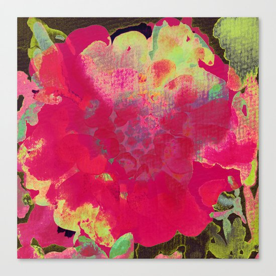 big abstract flower Canvas Print