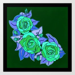 With The Roses Art Print