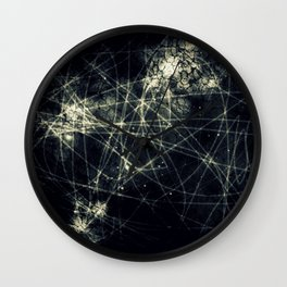 Infinity Particles Abstract Wall Clock