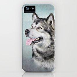 Drawing Dog Alaskan Malamute iPhone Case