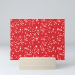 Christmas Dove Red Mini Art Print