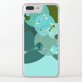 vanessa - abstract design of warm green and pale blue turquoise Clear iPhone Case
