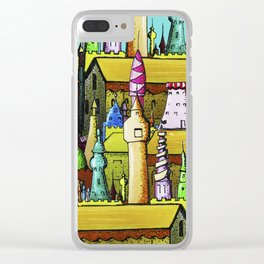 bright pattern of the houses Clear iPhone Case