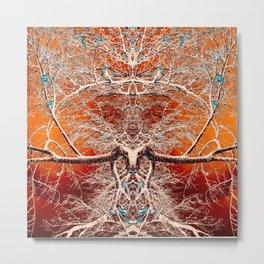 Alien Tree Rule Metal Print