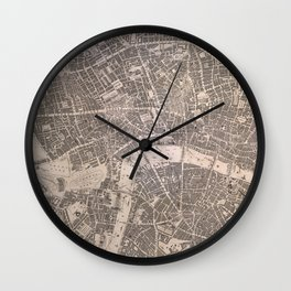 Vintage Map of London England (1845) Wall Clock