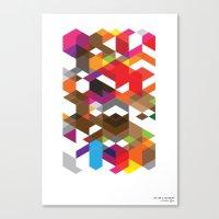 deadmau5 Canvas Prints featuring Life like a Geometry by Sitchko Igor