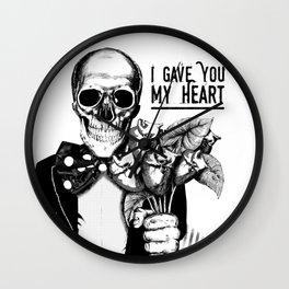I Gave You My Heart Wall Clock