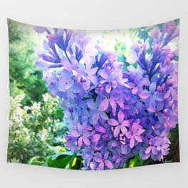 Lilacs in Bloom Wall Tapestry