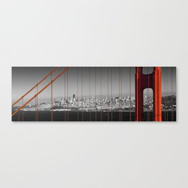 Golden Gate Bridge | Panoramic Downtown View Canvas Print