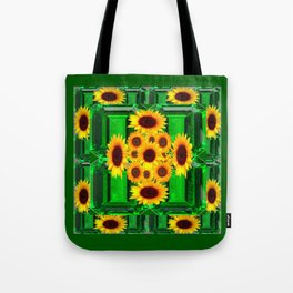 SPRING GREEN YELLOW FLOWERS  ART DECORATIVE  DESIGN Tote Bag