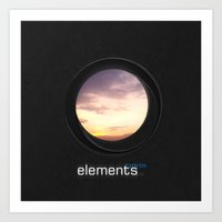 elements   clouds Art Print