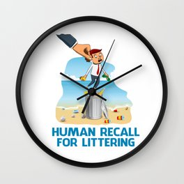 Human Recall For Littering Wall Clock