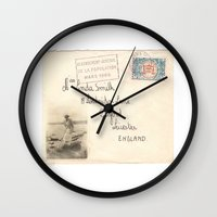 melissa smith Wall Clocks featuring Miss Smith by Vintage Memoirs