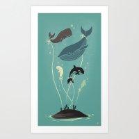 Whaloons Art Print