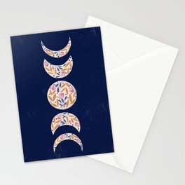 Flower Moon Phases Stationery Cards