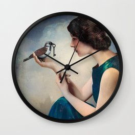 The Key to Wonderland Wall Clock