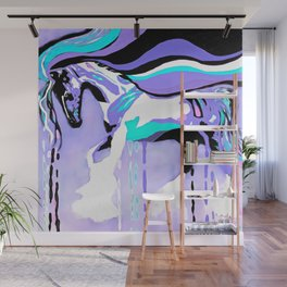 Flying Lavender Horse Wall Mural