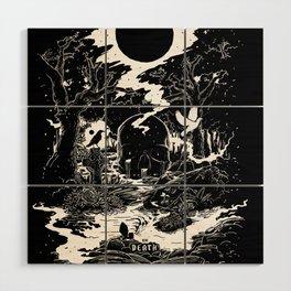 XIII - Death Card (Shadow Light Tarot) Wood Wall Art