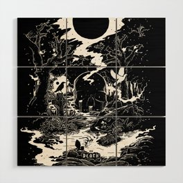 XIII - Death Card (Shadow Light Tarot) Wood Wall Art