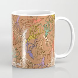 Squids of the inky ocean - retro colorway Coffee Mug