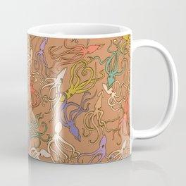 Squids of the inky ocean - retro colorway Coffee Mug