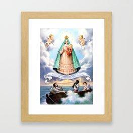 Virgen de N.S. de La Caridad del Cobre (Patrona de de la Isla de Cuba) Framed Art Print