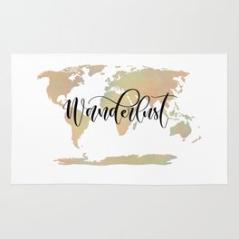 Wanderlust (blush/green) Rug